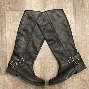 Lucky Brand tall black leather riding boot size 8